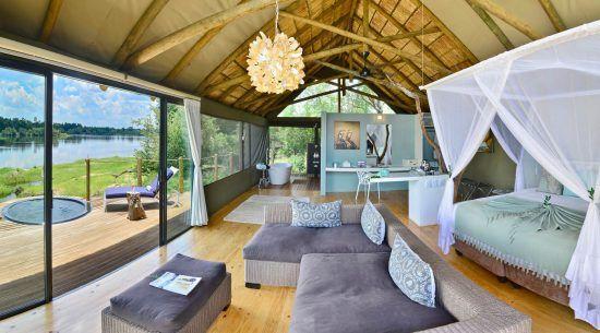 Victoria Falls River Lodge offers an intimate Zambezi cruise experience