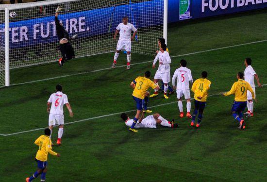Spiel zwischen Brasilien und Argentinien bei der WM 2010 in Südafrika