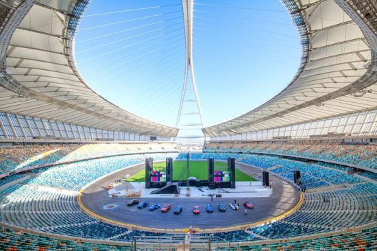 Blick ins Moses Mabhida Stadion in Durban