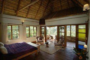 Zimmer der Bwindi Lodge