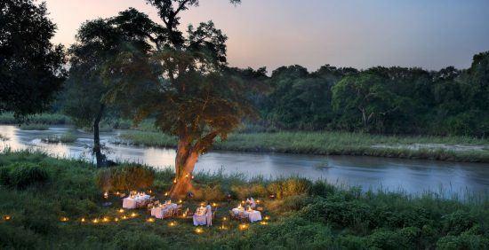 Disfruta de románticas cenas de luna de miel en la naturaleza en la Reserva Sabi Sand