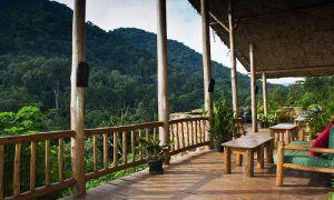 Blick vom Balkon der Engagi Lodge