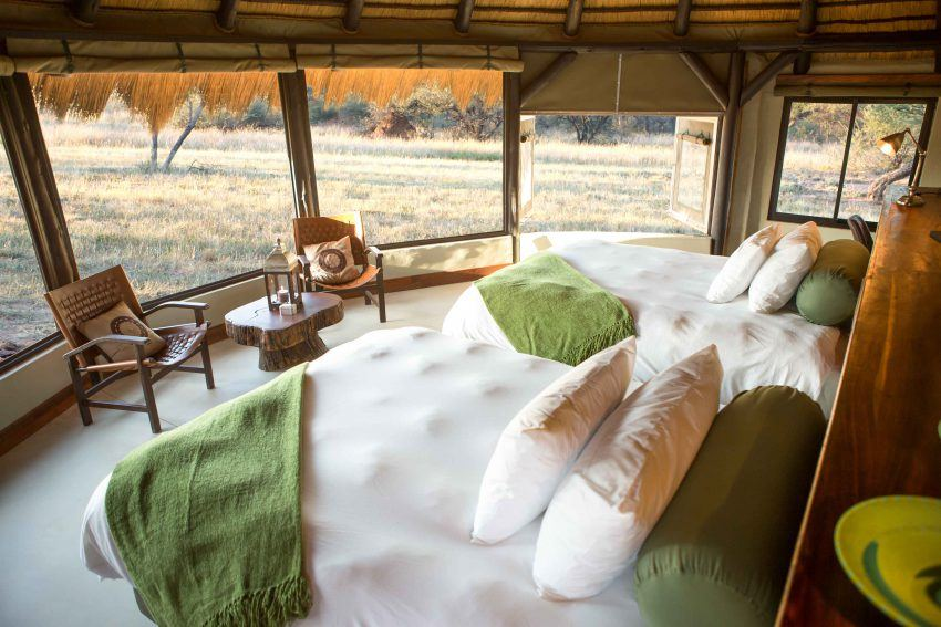 Blick vom Chalet aus im Okonjima Luxury Bush Camp