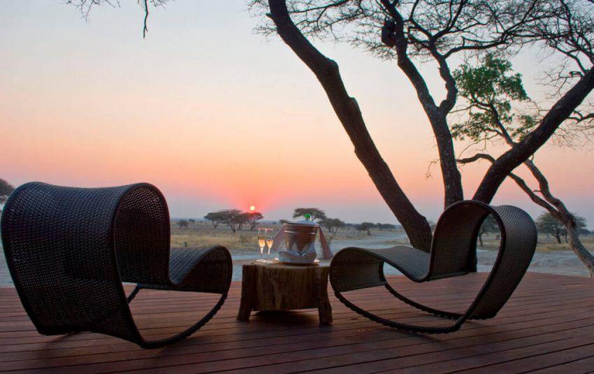 Sonnenuntergang im Etosha in Onguma The Fort