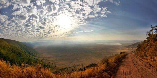 El crater del Ngorongoro, uno de los mejores lugares para avistar manadas de hienas