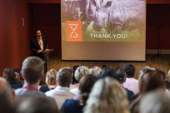 David Ryan gave a rousing speech at the Rhino X affair