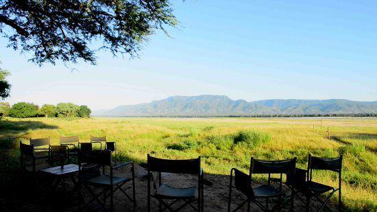 Seating over the Zambezi River