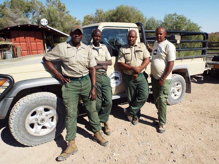 Rangers de l'association de lutte contre le braconnage des rhinocéros en Namibie
