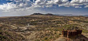 Panorama des gorges d'Olduvai en Tanzanie