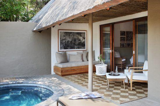 Campements du Parc Kruger | Espace extérieur privé d'une chambre au Varty Camp