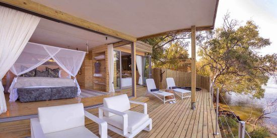 Victoria Falls Island Lodge lets you cruise the Zambezi River, the 4th largest river in Africa