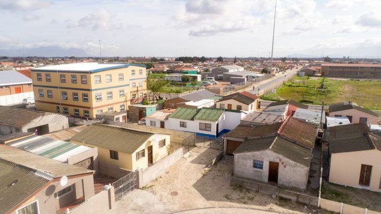 Khumbulani dans le township de Khayelitsha au Cap.