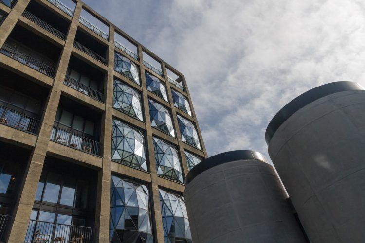 Bâtiment du Zeitz MOCAA & le Silo, hôtel de luxe du Cap en Afrique du Sud.