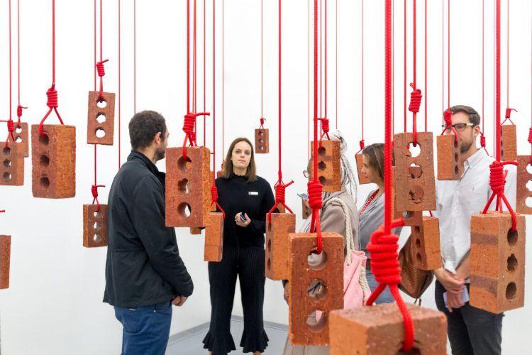 Oeuvre au Zeitz MOCA, musée d'art contemporain au Cap