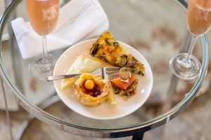 Treats are served during the MannaBay high tea at this five star boutique hotel