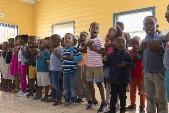 Singing to us at Khumbulani
