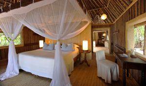 Schlafzimmer der Mnemba Island Lodge