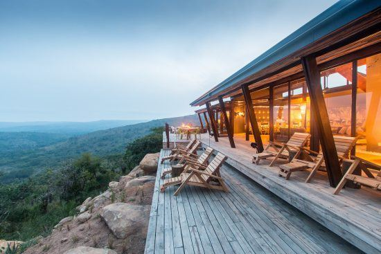 The view of Hluhluwe–iMfolozi Park from Rhino Ridge Safari Lodge