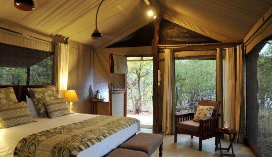 Changa Safari Camp aims has a series of luxury safari tents