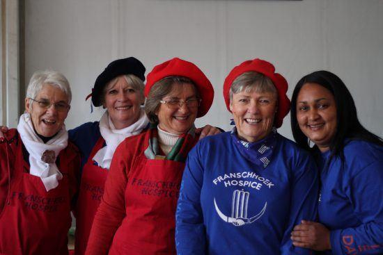 Stand de croissants au festival du 14 juilelt à Franschhoek.