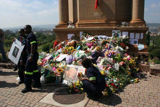 Imágen del funeral de Nelson Mandela en Qunu