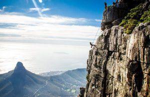 Rapel en Table Mountain, Ciudad del Cabo