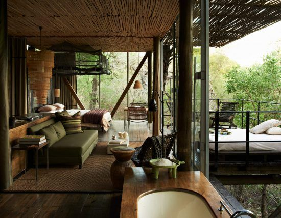 Singita Sweni Lodge is situated near the Kruger National Park, one of the top destinations of the rich and famous