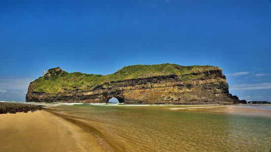 Das berühmte Hole in the Wall im Eastern Cape Südafrikas