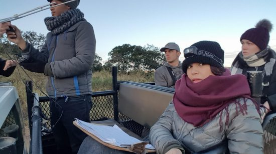 Volontaires dans une réserve naturelle d'Afrique du Sud.