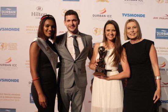 Unsere stolzen Repräsentanten, Ryan und Irene, bei den World Travel Awards