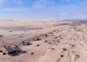 L'un des lodges safari insolites en Afrique que nous préférons: Shipwreck lodge en Namibie.
