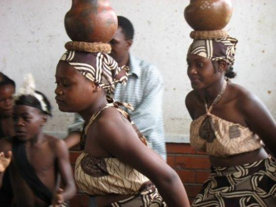 Shona maidens during a traditional dance ceremony