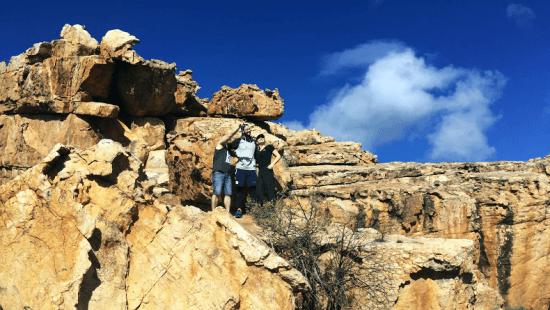 Uma das muitas formações rochosas em Cederberg, um excelente destino para os que gostam de trekking, hiking e motociclismo