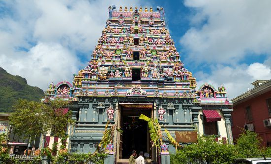 Templo Hindu na cidade Victoria, capital de Seychelles