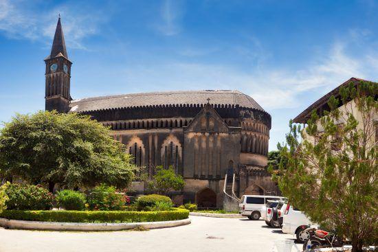 Panorámica de la iglesia cristiana de Stone Town.