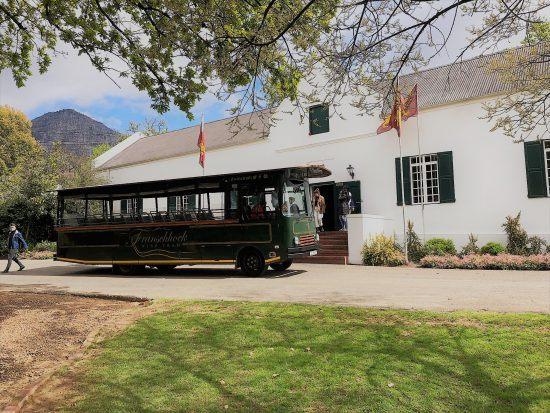 Le wine tram au Cap