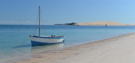 As águas tranquilas das Ilhas Bazaruto