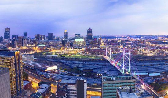 Uma vista da cidade vibrante de Joanesburgo