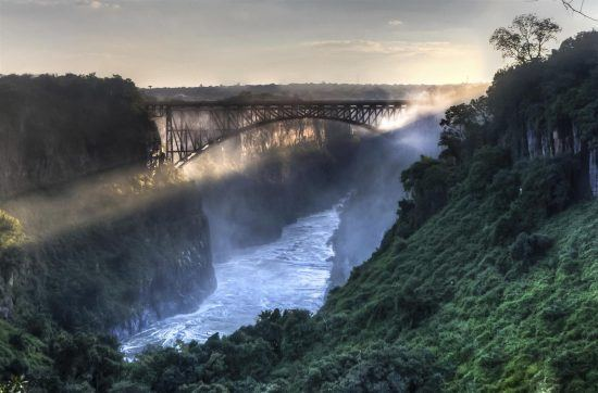 A spectacular view of the Victoria Falls