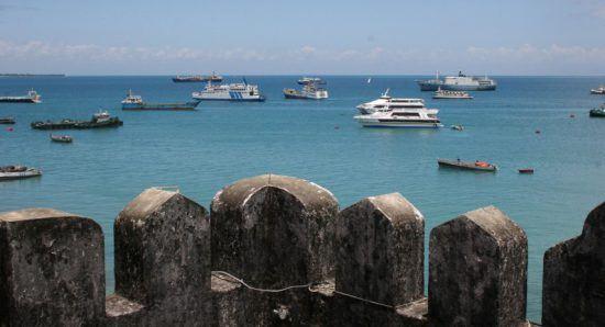 Blick von Stone Town auf den Hafen von Sansibar