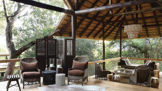 Das Aussichtsdeck in den Baumkronen - Londolozi Tree Camp