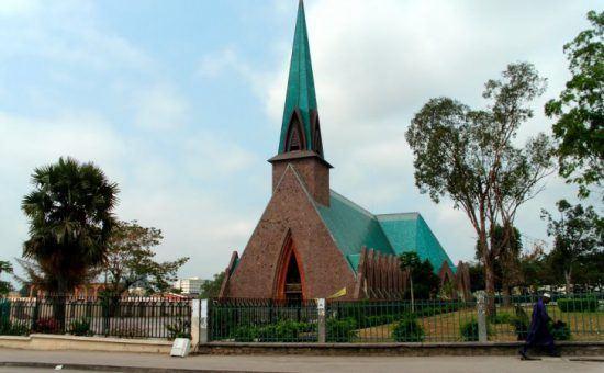 Die Kirche Basilique Sainte-Anne in Brazzaville