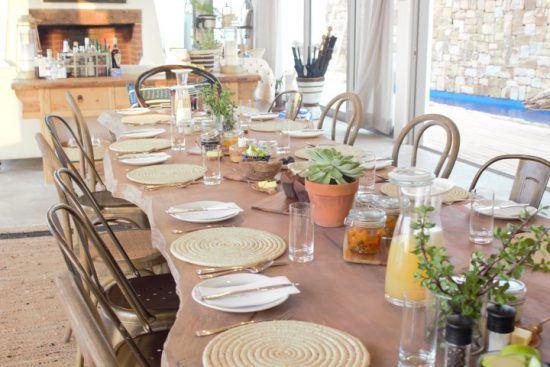 Frühstückstisch in der Lekkerwater Beach Lodge