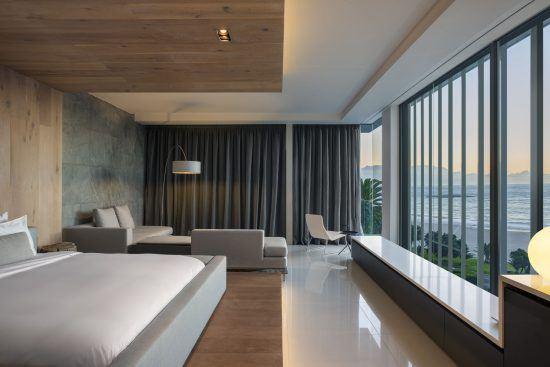 Quartiers Cape Town | Une chambre du POD Boutique Hotel au style épuré et minimaliste
