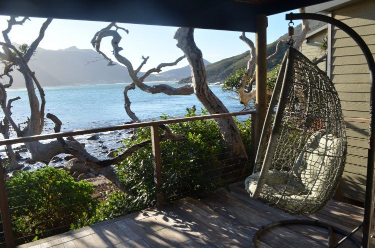 View from the St Marie room at Tintswalo Atlantic Boutique Hotel in Hout Bay