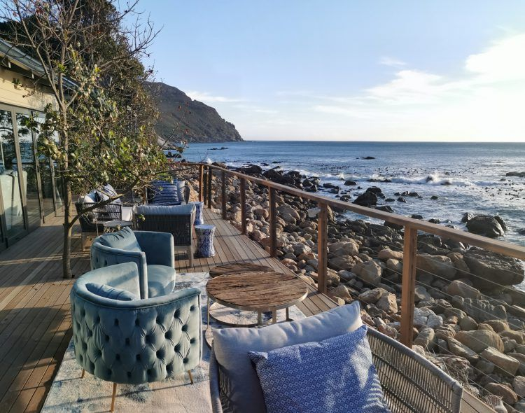 View from the main deck at Tintswalo Atlantic Boutique Hotel on Chapman's Peak in Hout Bay