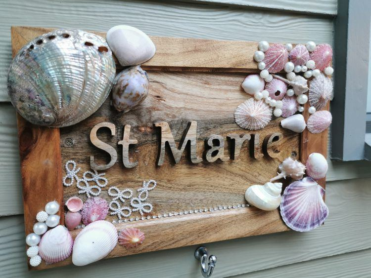 St Marie room's sign at Tintswalo Atlantic