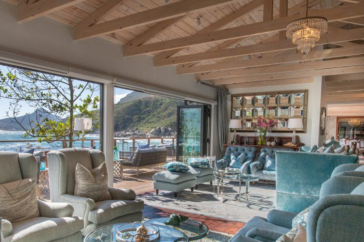 Tintswalo Atlantic Boutique Hotel's main lounge, in Hout Bay