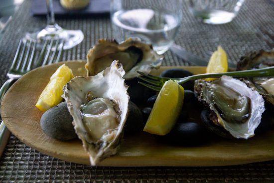 Frische Austern mit Champagner im Delaire Graff Restaurant