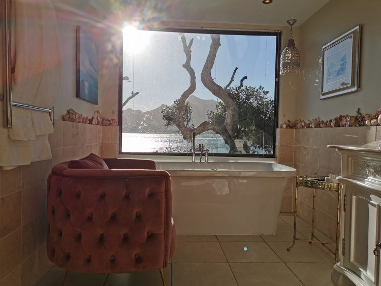 View from the bath at Tintswalo Atlantic in Hout Bay